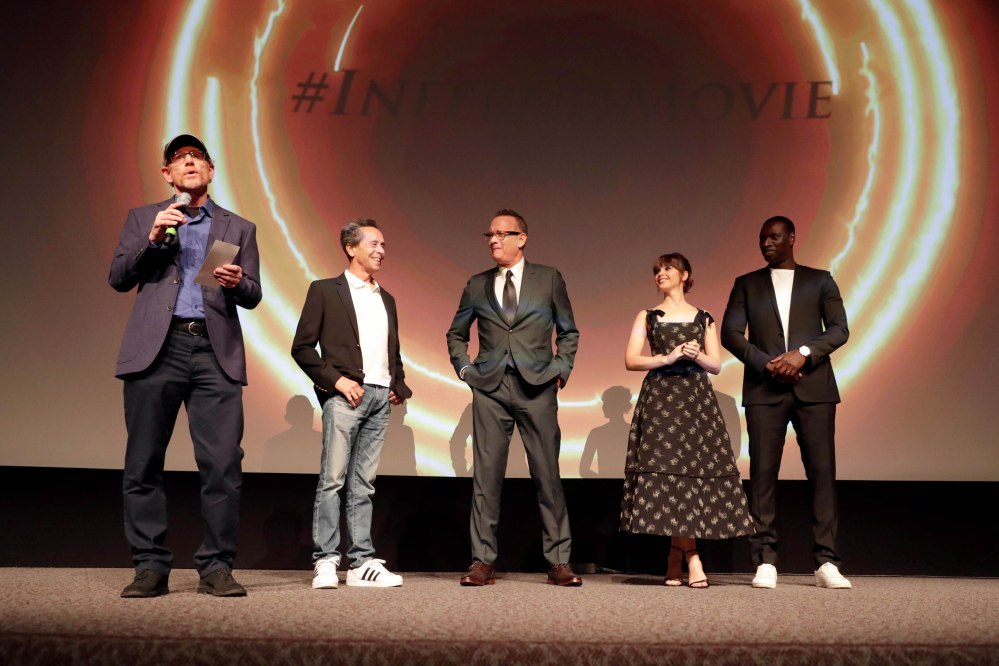 Ron Howard, Brian Grazer, Tom Hanks, Felicity Jones, Omar Sy
