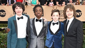 LOS ANGELES, CA - JANUARY 29: (L-R) Actors Finn Wolfhard, Caleb McLaughlin, Noah Schnapp, and Gaten Matarazzo attend The 23rd Annual Screen Actors Guild Awards at The Shrine Auditorium on January 29, 2017 in Los Angeles, California. 26592_008 (Photo by Frazer Harrison/Getty Images)